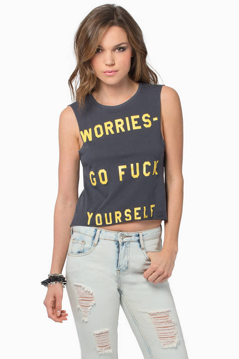 Life Clothing Worries Graphic Tank