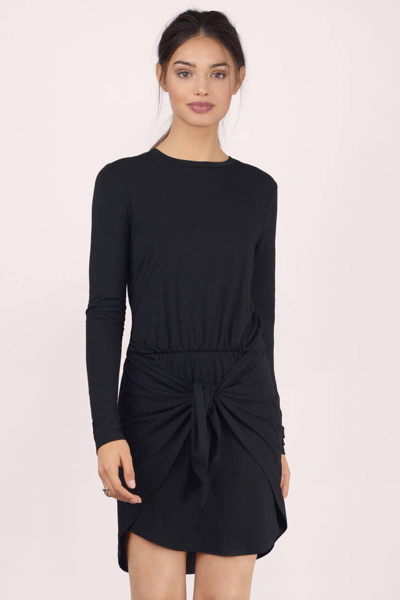 Wrap It Up Black Wrap Dress