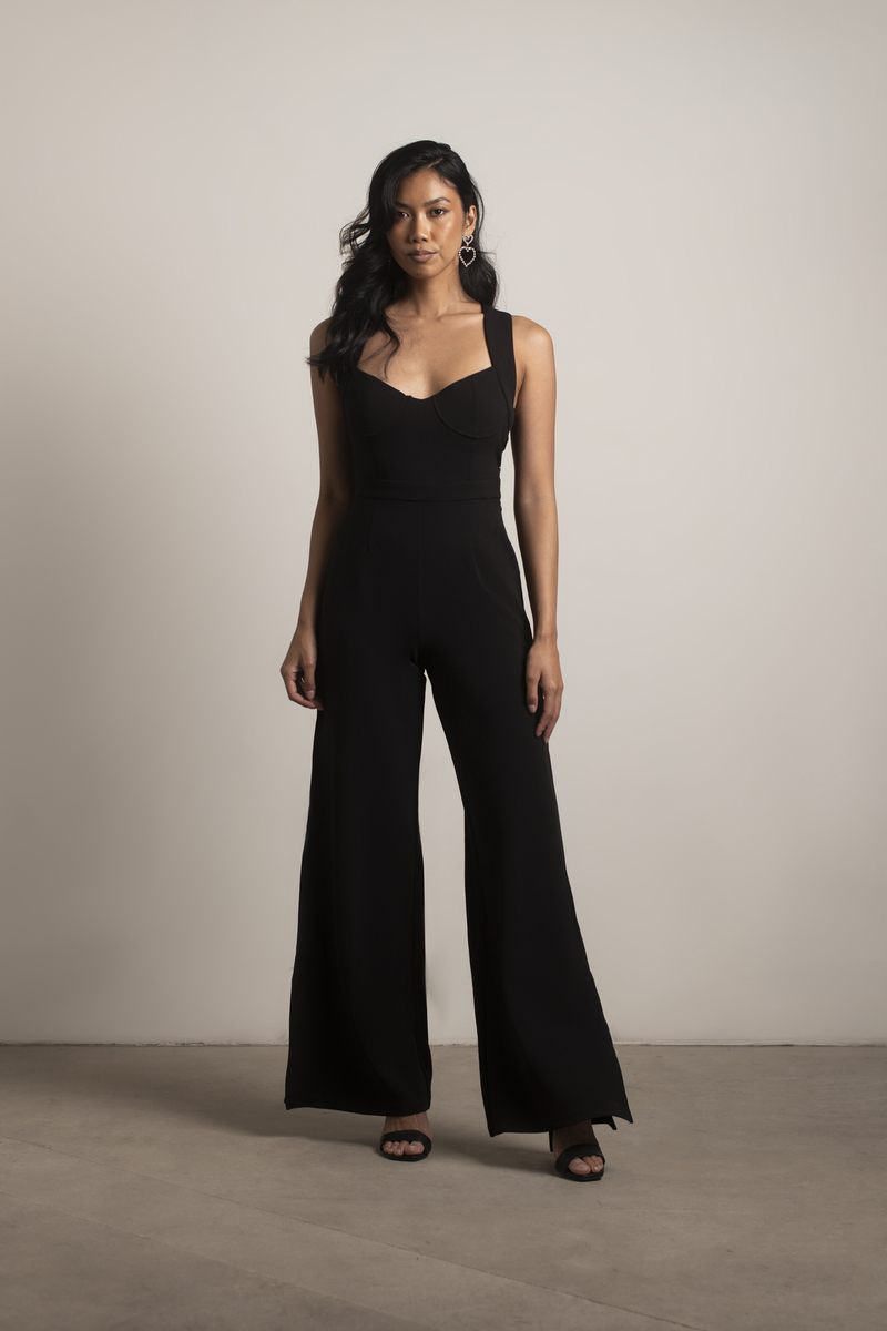 new images of so cheap best quality for Yessenia Split-Hem Jumpsuit