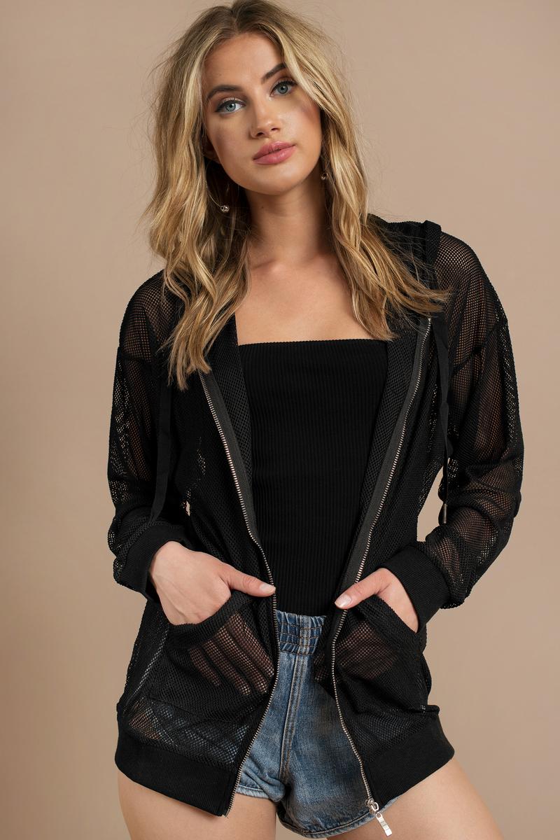 Zoe Black Mesh Jacket