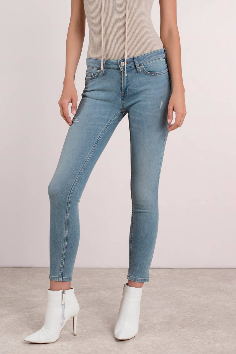 ea7cd0697 Cute Blue Calvin Klein Pants - Skinny Jeans - Blue Ankle Jeans - $49 ...