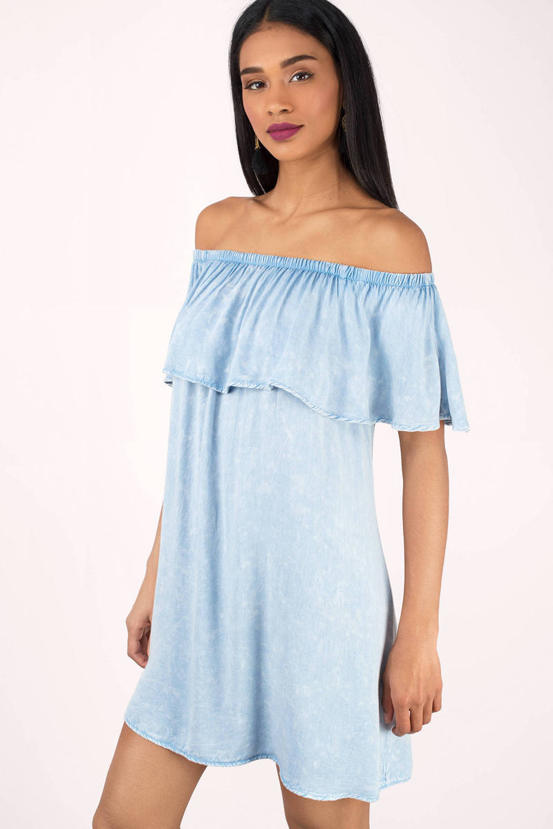 Anna Blush Ruffle Top Shift Dress