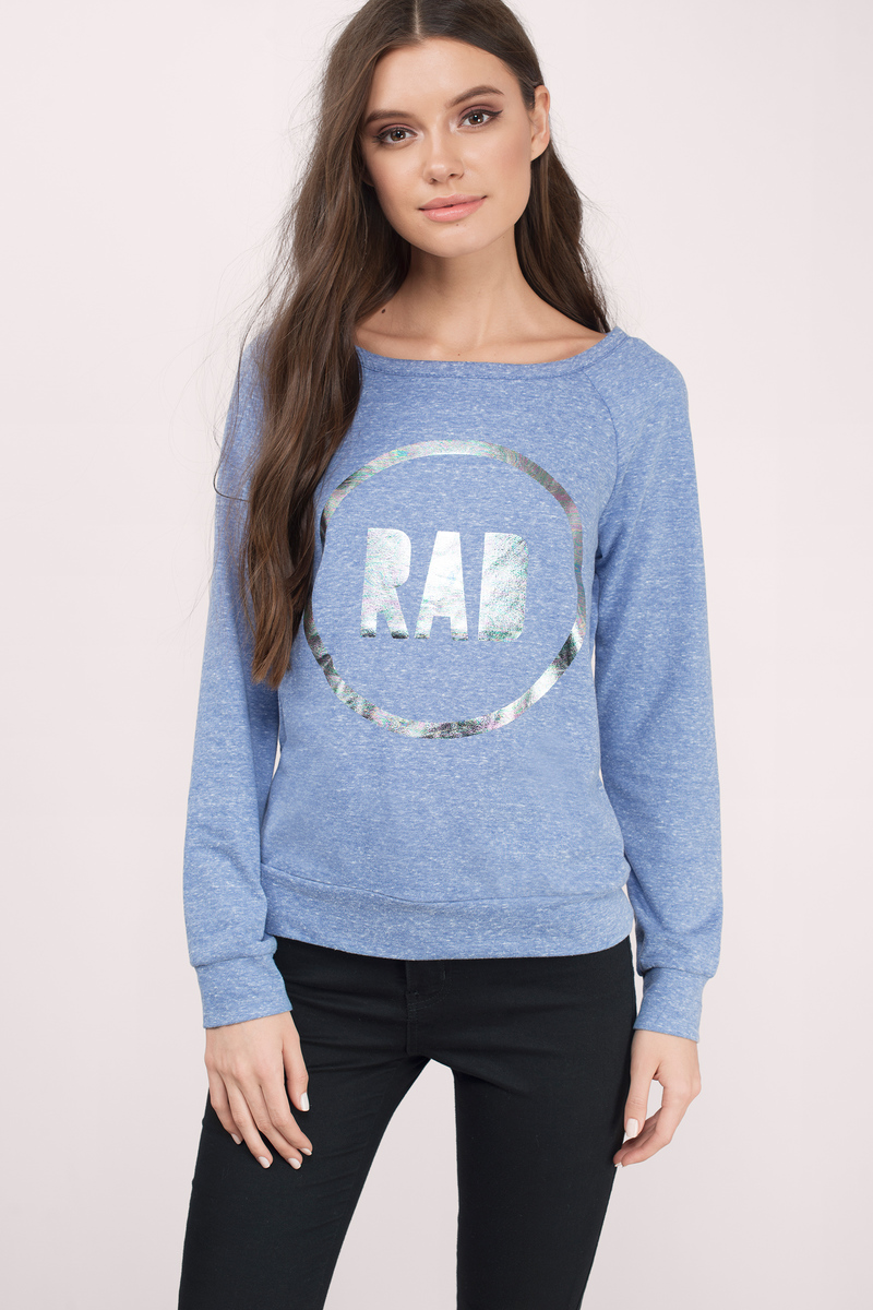 Cheap Blue Sweater - Long Sleeve Sweater - Blue Hoodie - $6 | Tobi US