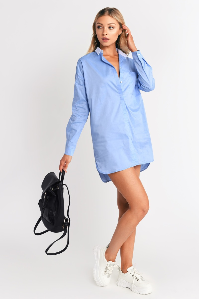 Brady Blue Shift Dress
