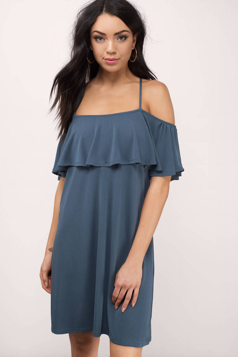 Cameron Blue Jersey Shift Dress