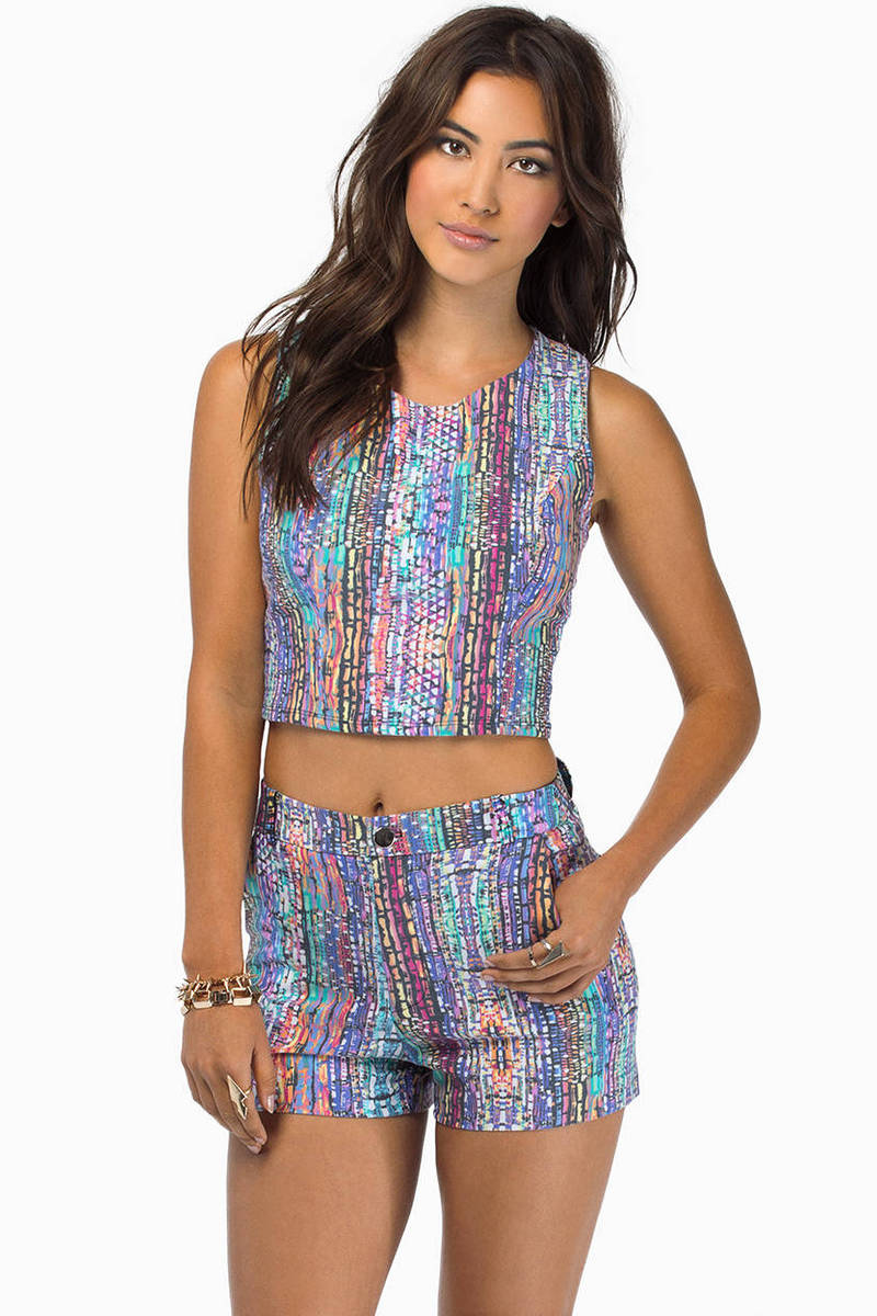 Colored Ways Top