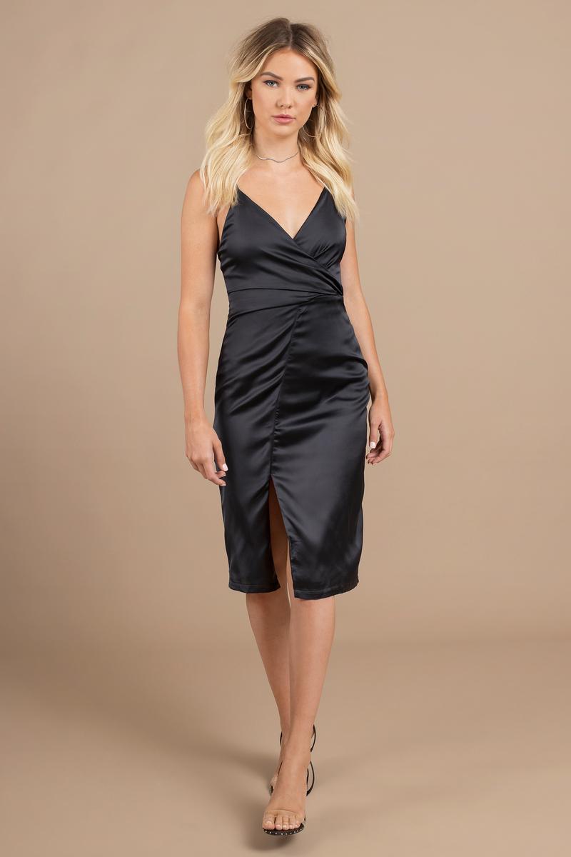 Delilah Blue Side Slit Midi Dress