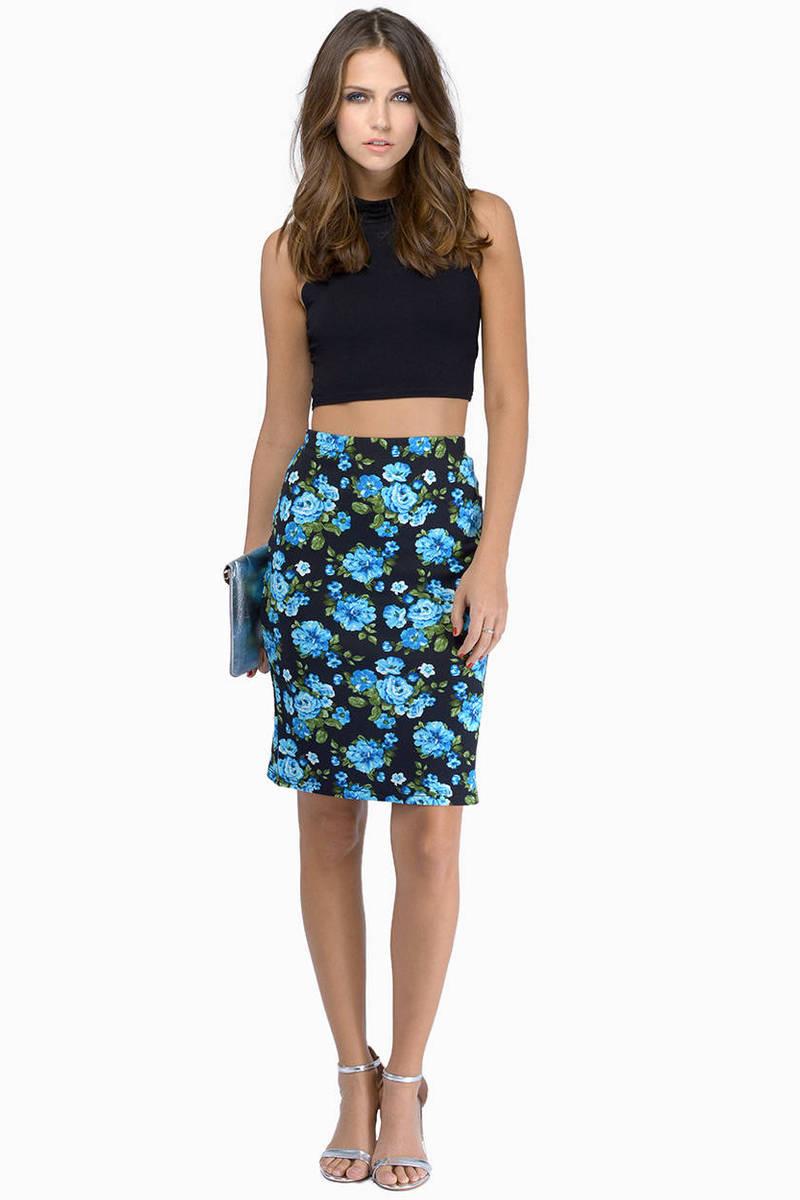 Print Party Pencil Skirt