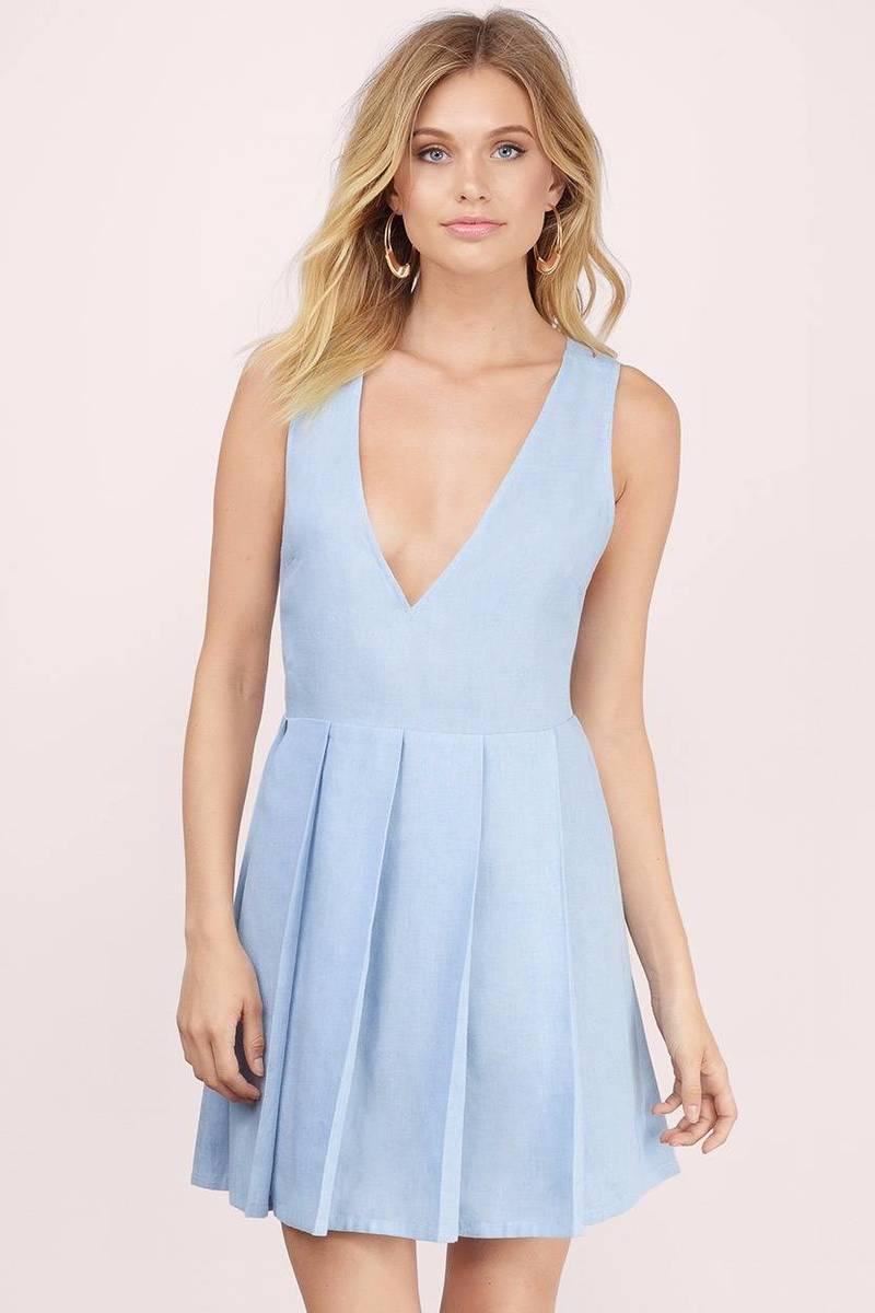Giselle Blue Shift Dress