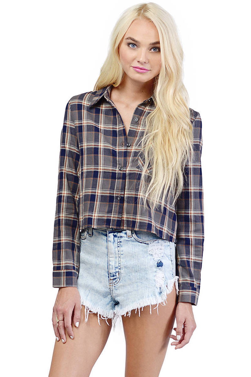 Sienna Plaid Top