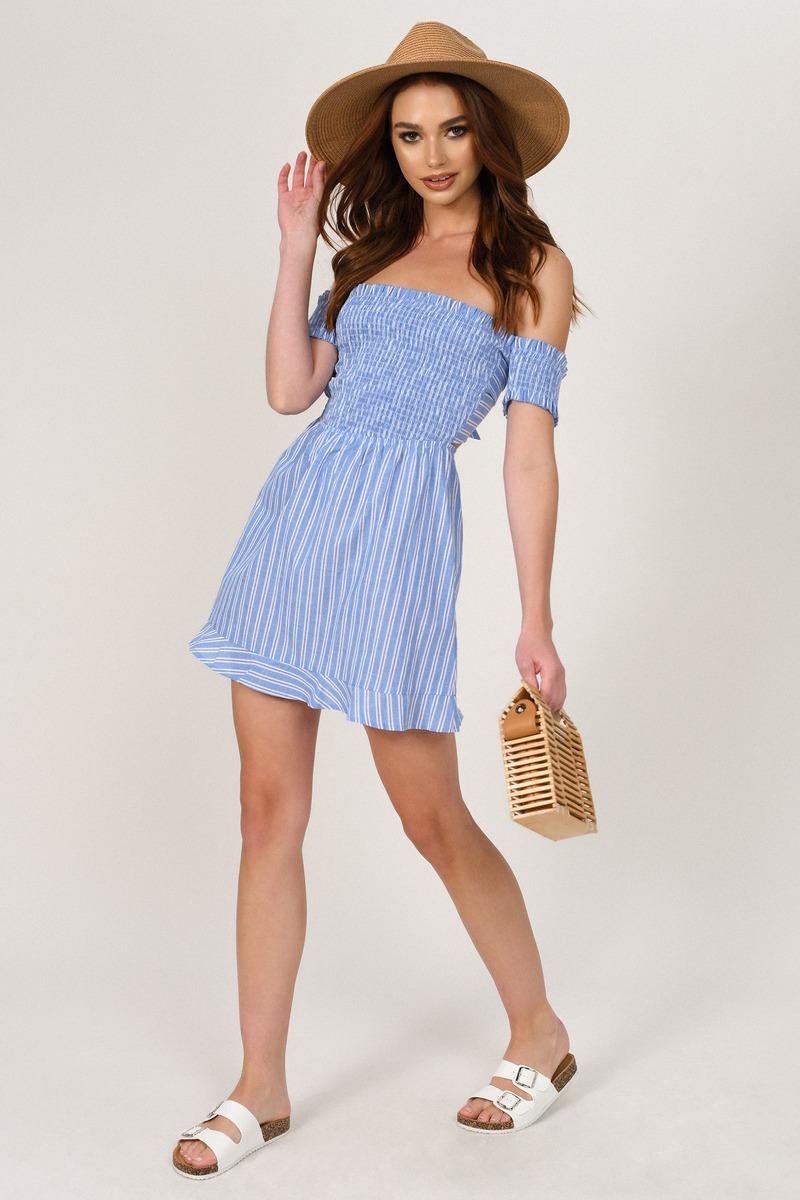 Blue Skater Dress - Casual Dress - Blue