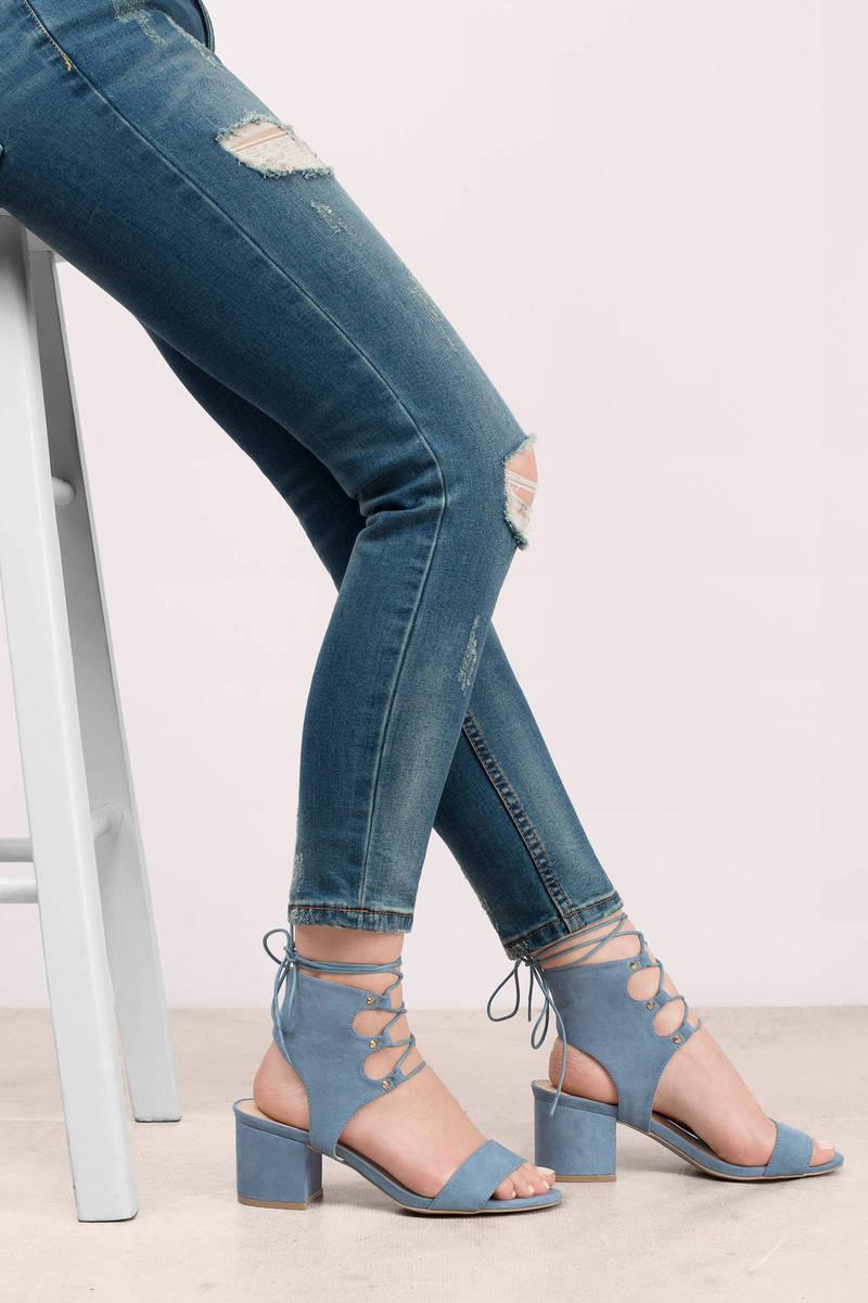 Larina Blue Heels