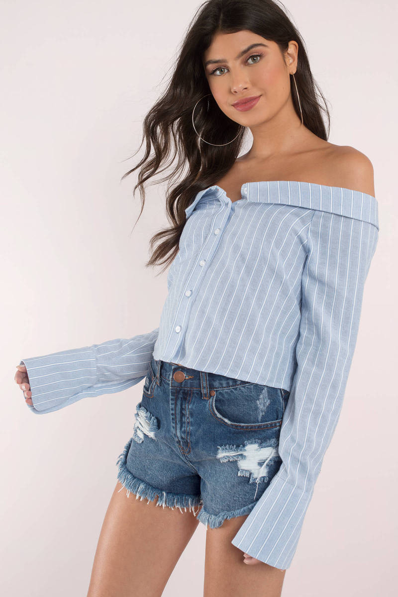 fcf26afcdd Mask Off Shoulder Top