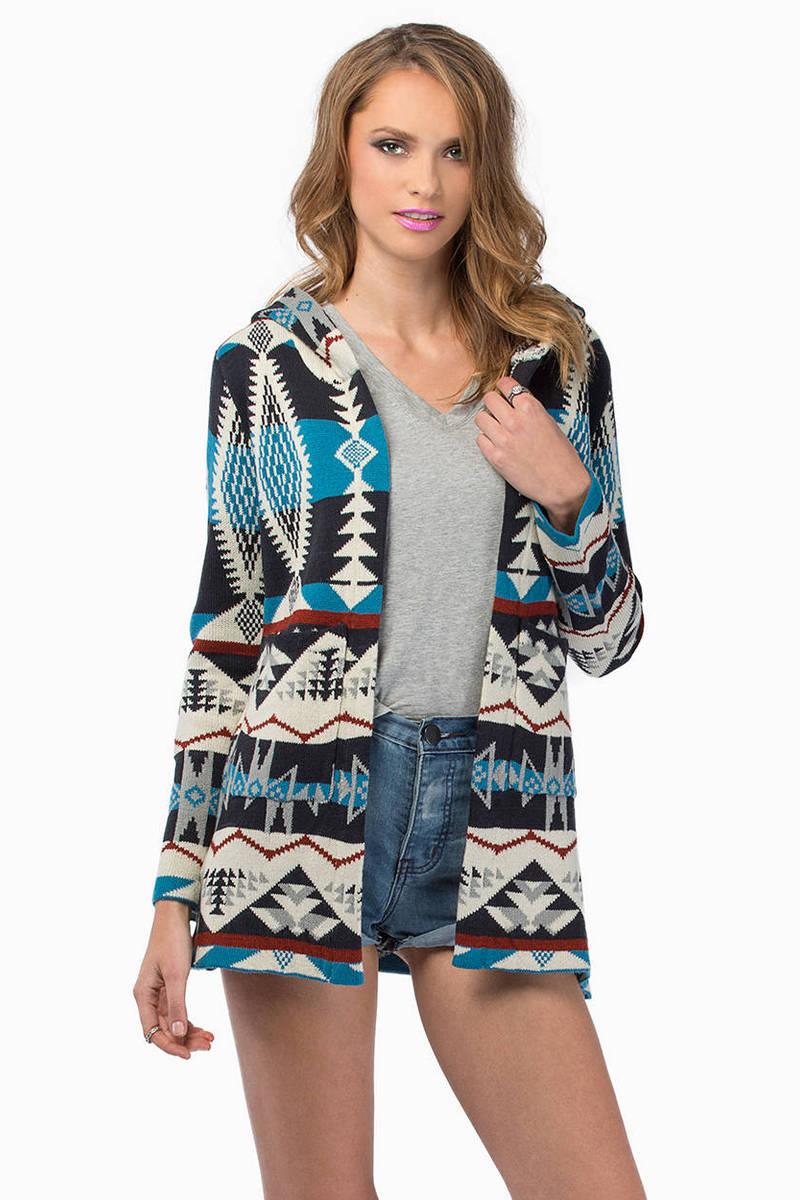 Kendall Blue Multi Cardigan