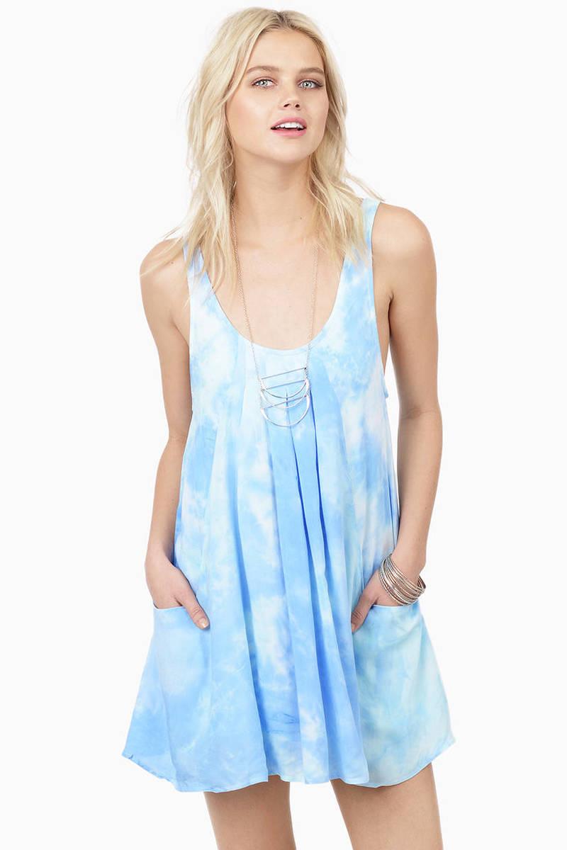 Swing Swing Blue Multi Shift Dress