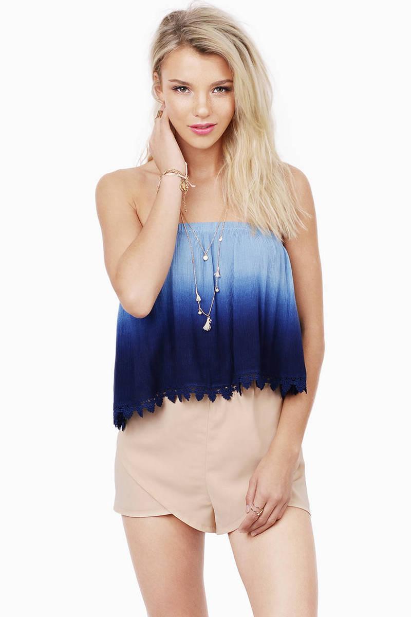 Heavenly Touch Lavender & Pink Tie Dye Crop Top