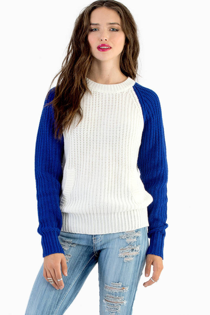 Racing Regina Blue Knit Sweater