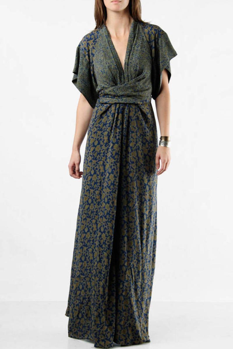 46932e23e6b00 Green Winter Kate Maxi Dress - Maxi Kimono Dresses - Green Long ...