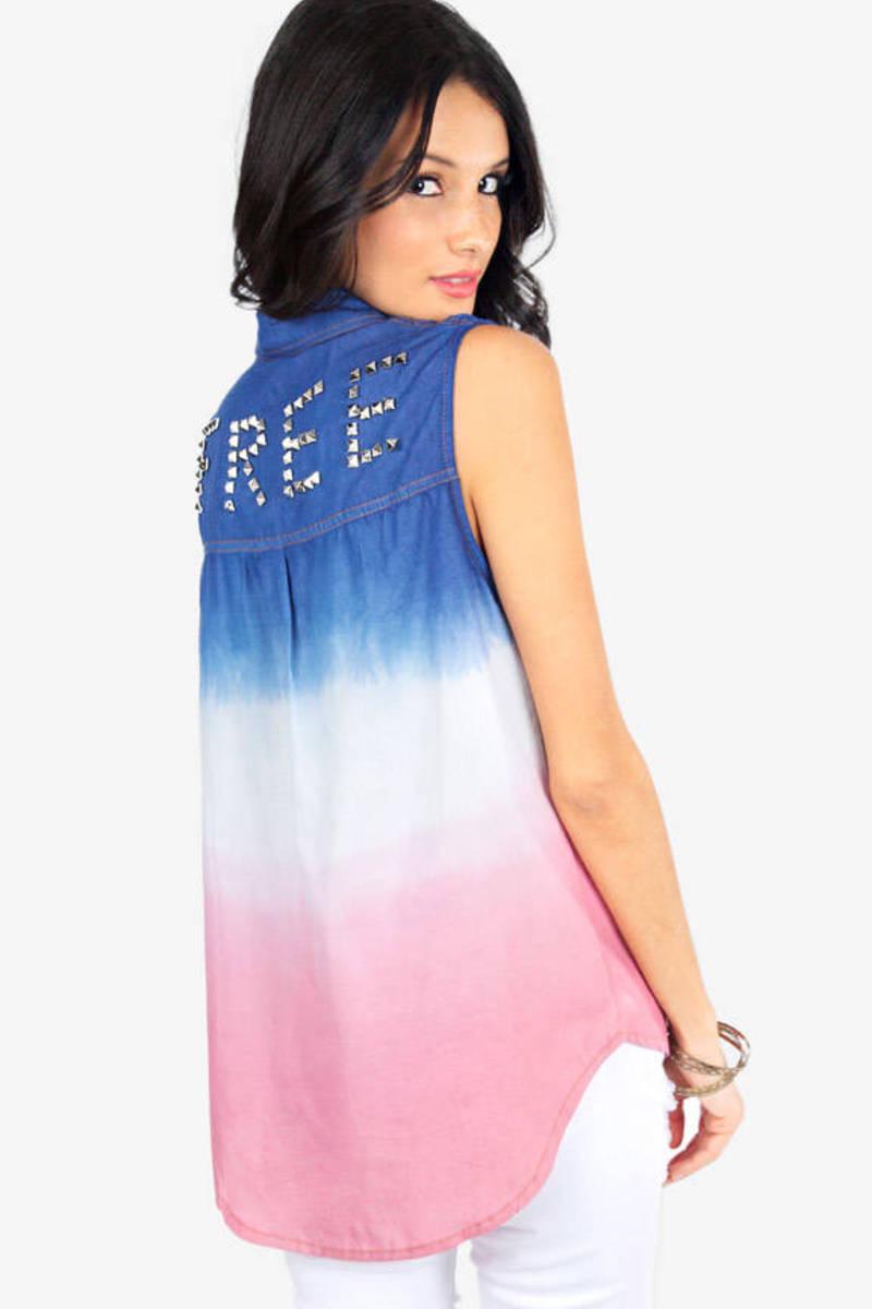 Reverse Dye Free Sleeveless Shirt