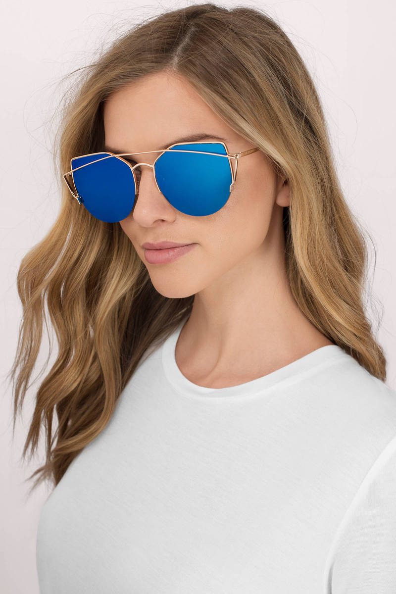 Grey Mirrored Sunglasses - Aviators - Blue Mirrored Sunglasses -  14 ... 8e397cb0499