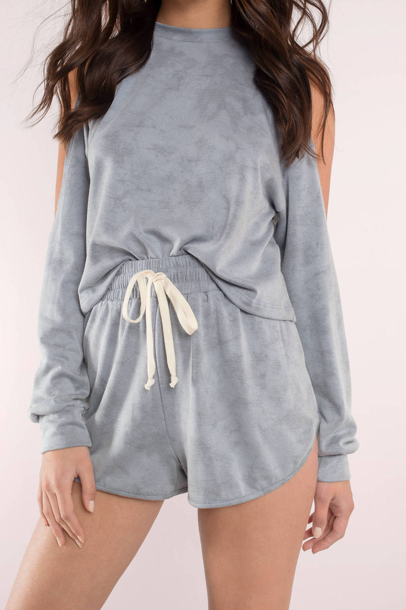What I Like About You Blue Drawstring Shorts