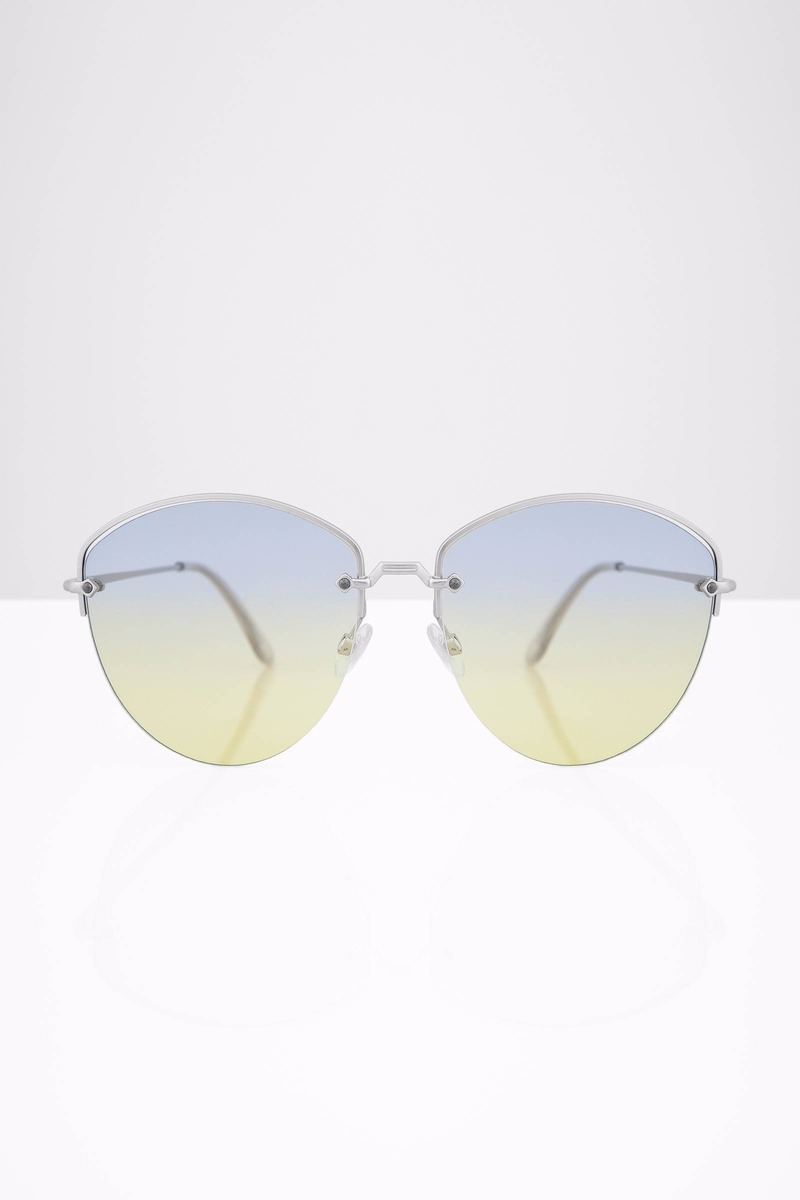 Find Me Lavender Oversized Gradient Sunglasses