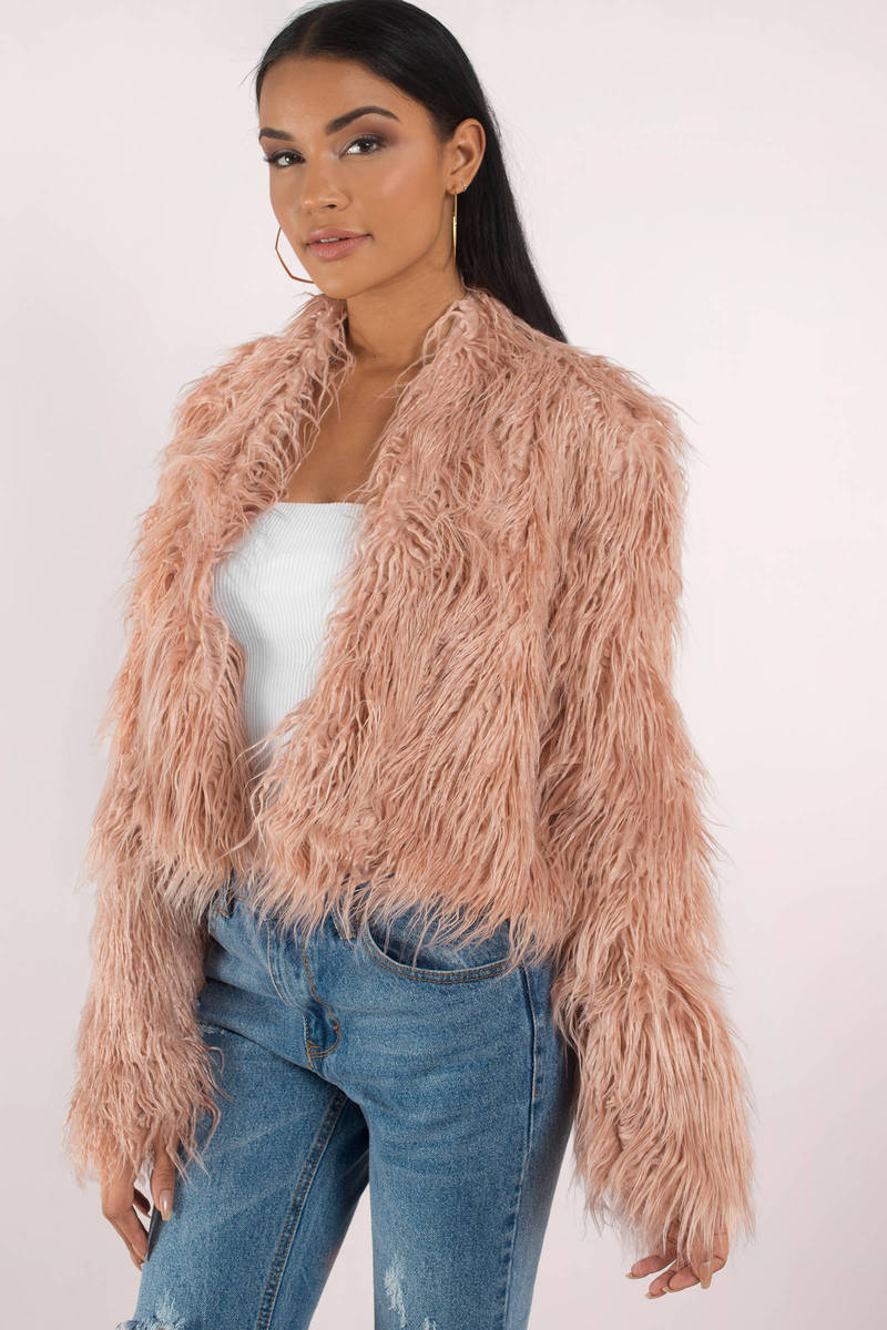 Keepsake Keepsake Aurora Blush Fur Coat