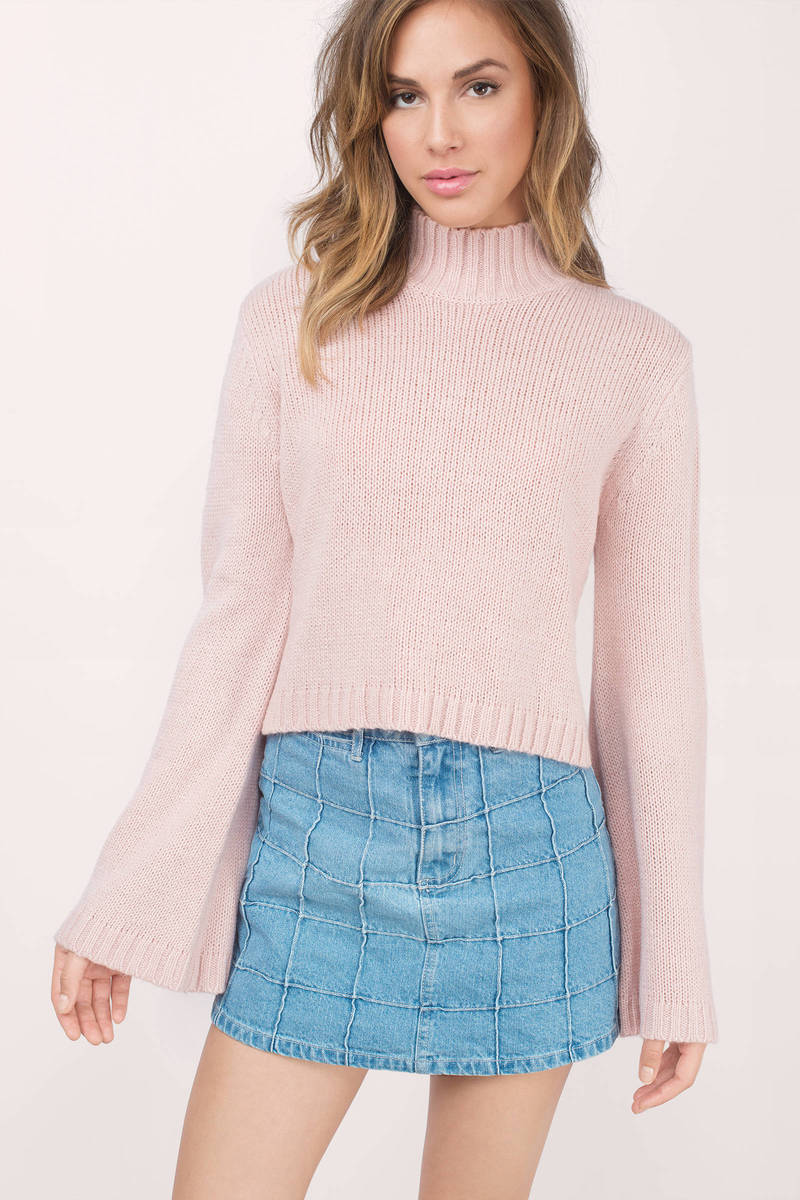 Blush Sweater - Blush Sweater - Turtleneck Sweater - Blush Top ...