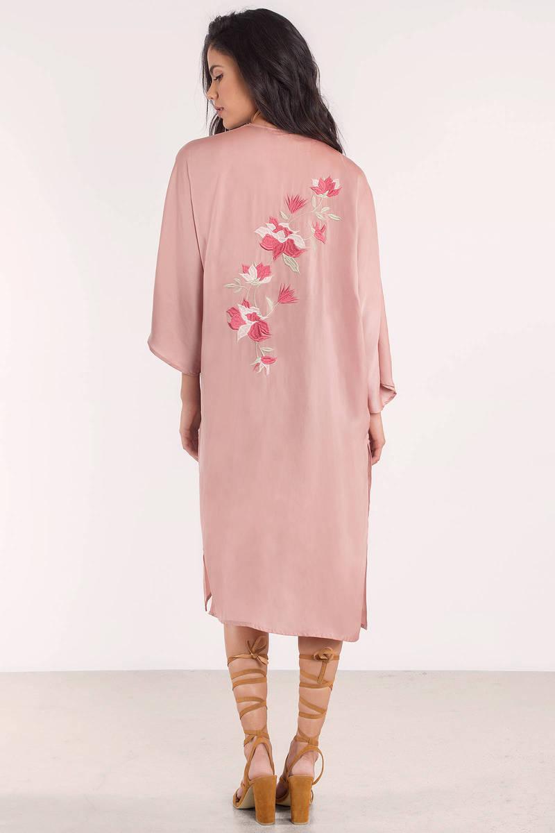 Cute Blush Cardigan - Satin Cardigan - Pink Cardigan - Blush ...
