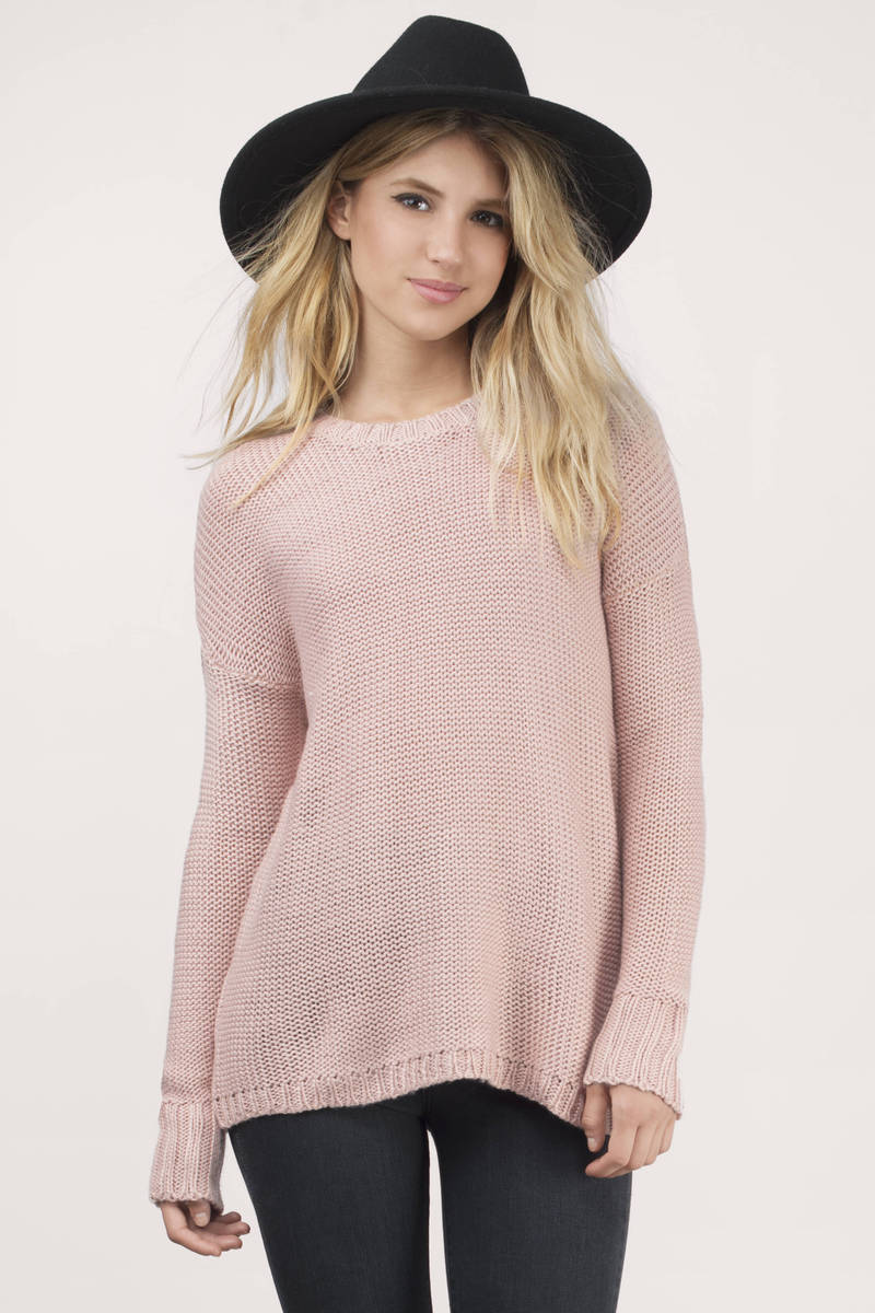 Blush Sweater - Button Up Sweater - Long Sleeve Sweater - Knit ...