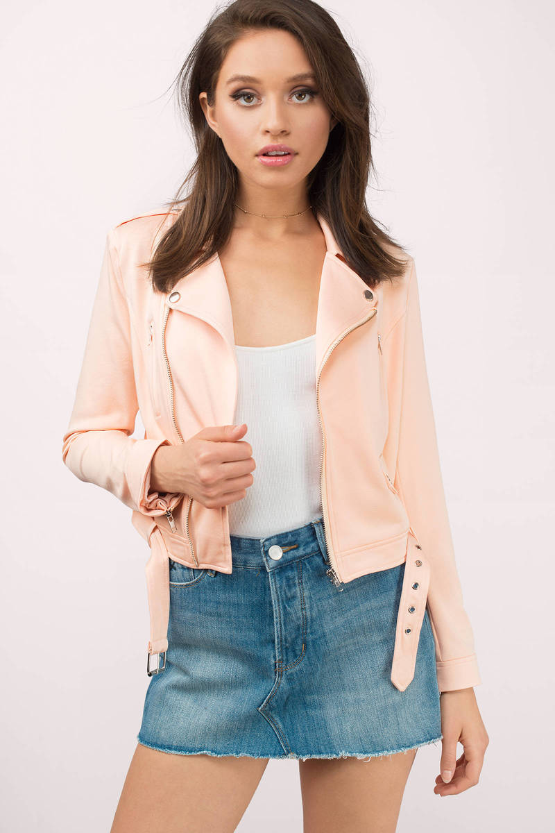Wyldr Wyldr Burning Love Blush Biker Jacket