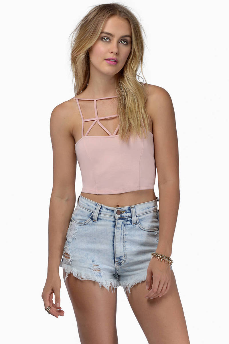 Caged In Crop Top