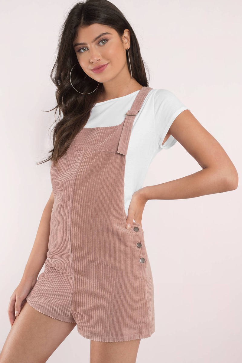 42fe234c38d Honey Punch Overalls - Cute Blush Corduroy - Blush Pink Overalls ...