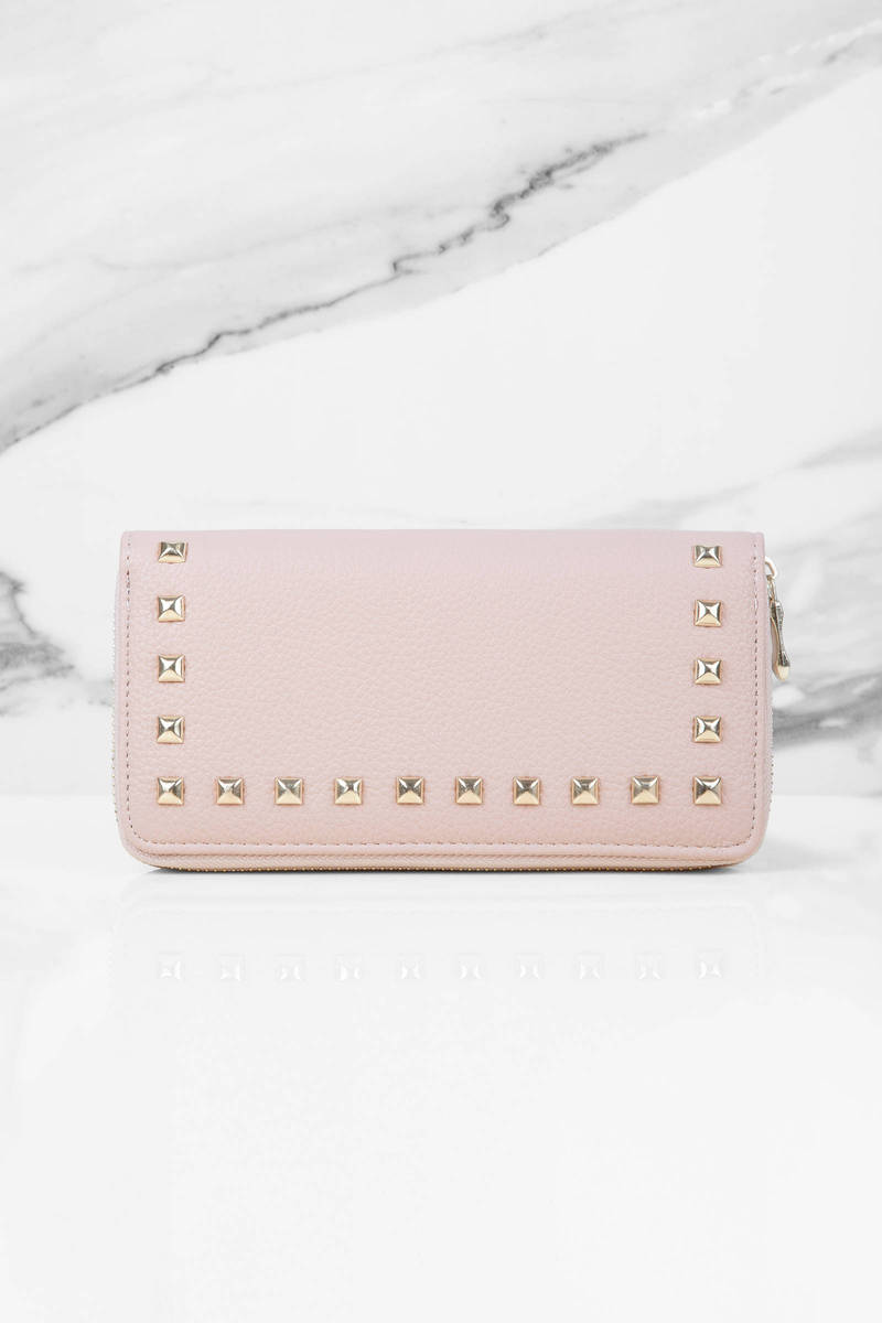 Cosmopolitan Blush Studded Wallet