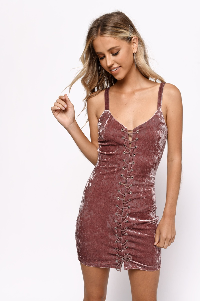 b0b6c6d9fa24c Blush Pink Bodycon Dress - Velvet Mini Dress - Blush Pink Velvet ...