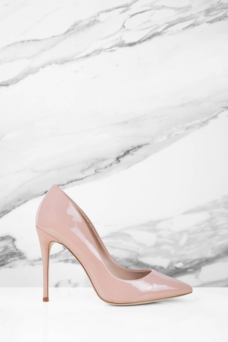 514f6c42d2 Blush Pink Steve Madden Heels - Designer Pumps - Blush Pink Leather ...