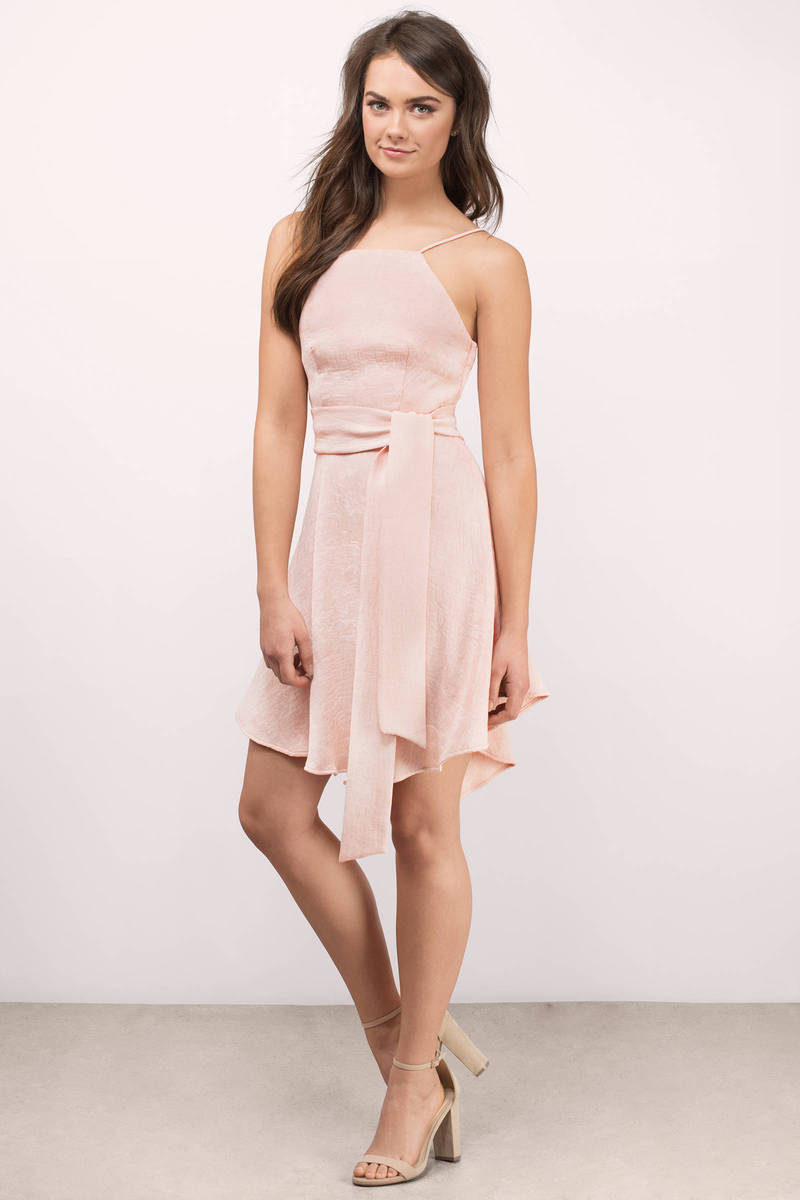 Cameo Cameo Do It Right Blush Skater Dress