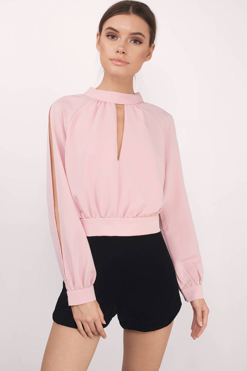 7e7c525616c34 Blush Blouse - Pink Blouse - Boat Neck Blouse - Blush Top - AU  18 ...