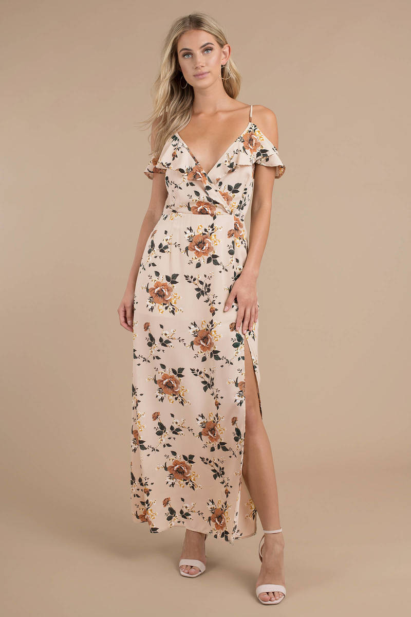 garden party blush maxi wrap dress - Garden Party Dress