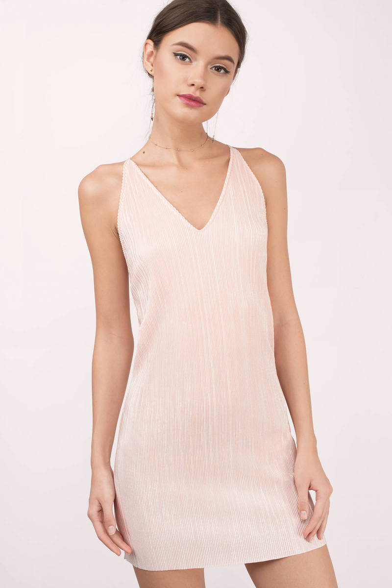 243aeeada5bed Blush Pink Shift Dress - Ribbed Dress - Short Blush Pink Dress - $24 ...