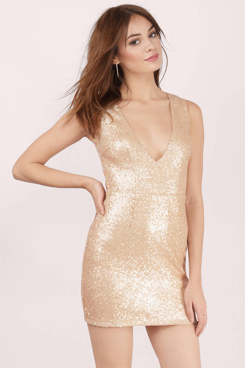 Gwyn Blush Sequin Bodycon Dress