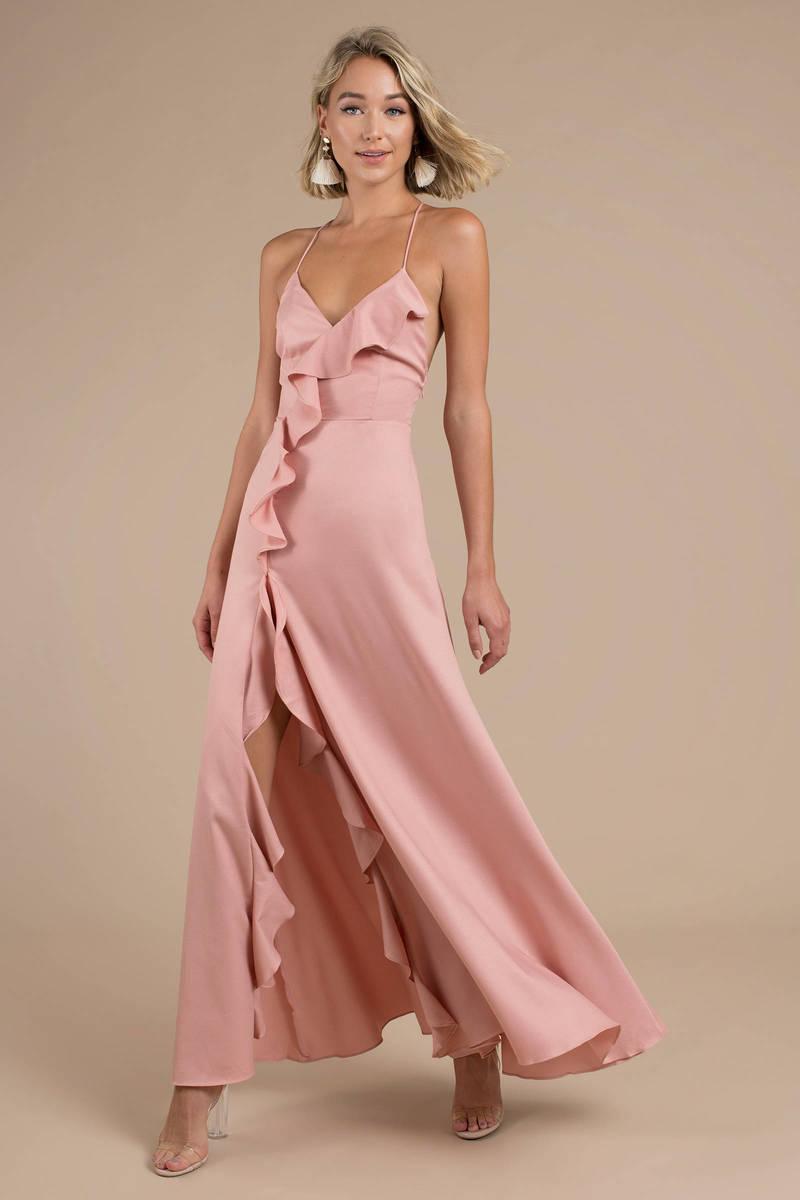 Holding On For Tonight Blush Maxi Dress - £125  2d6bebefa