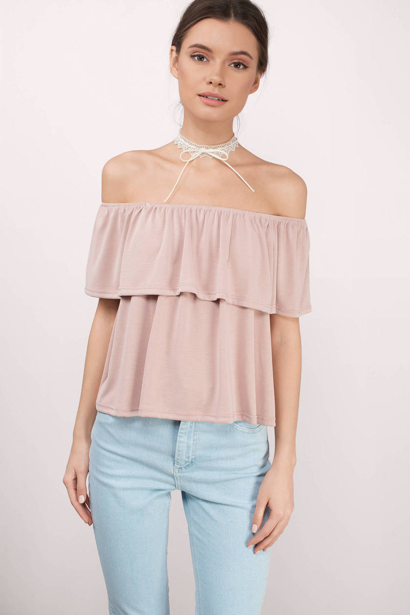 In A Flutter Blush Blouse