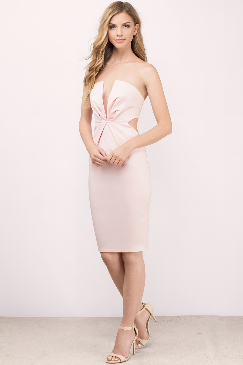eaccac40a22 Into The Night Blush Bodycon Dress