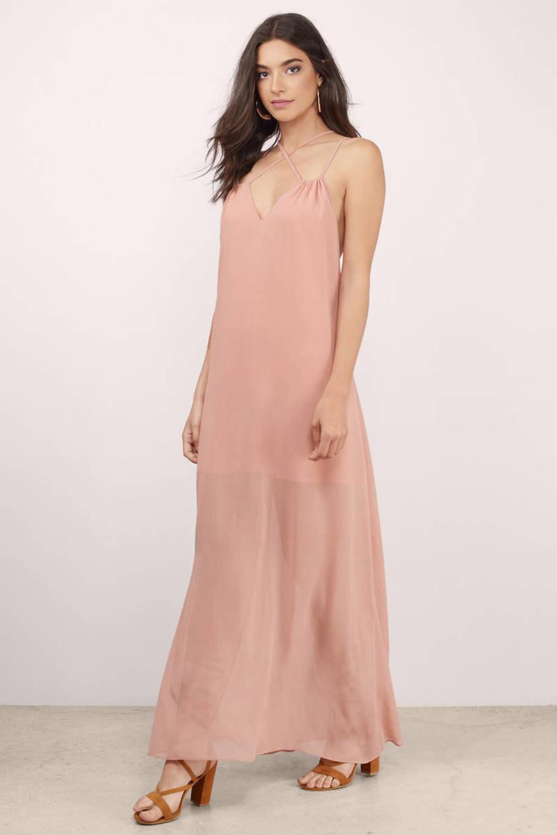 King's Queen Blush Maxi Dress