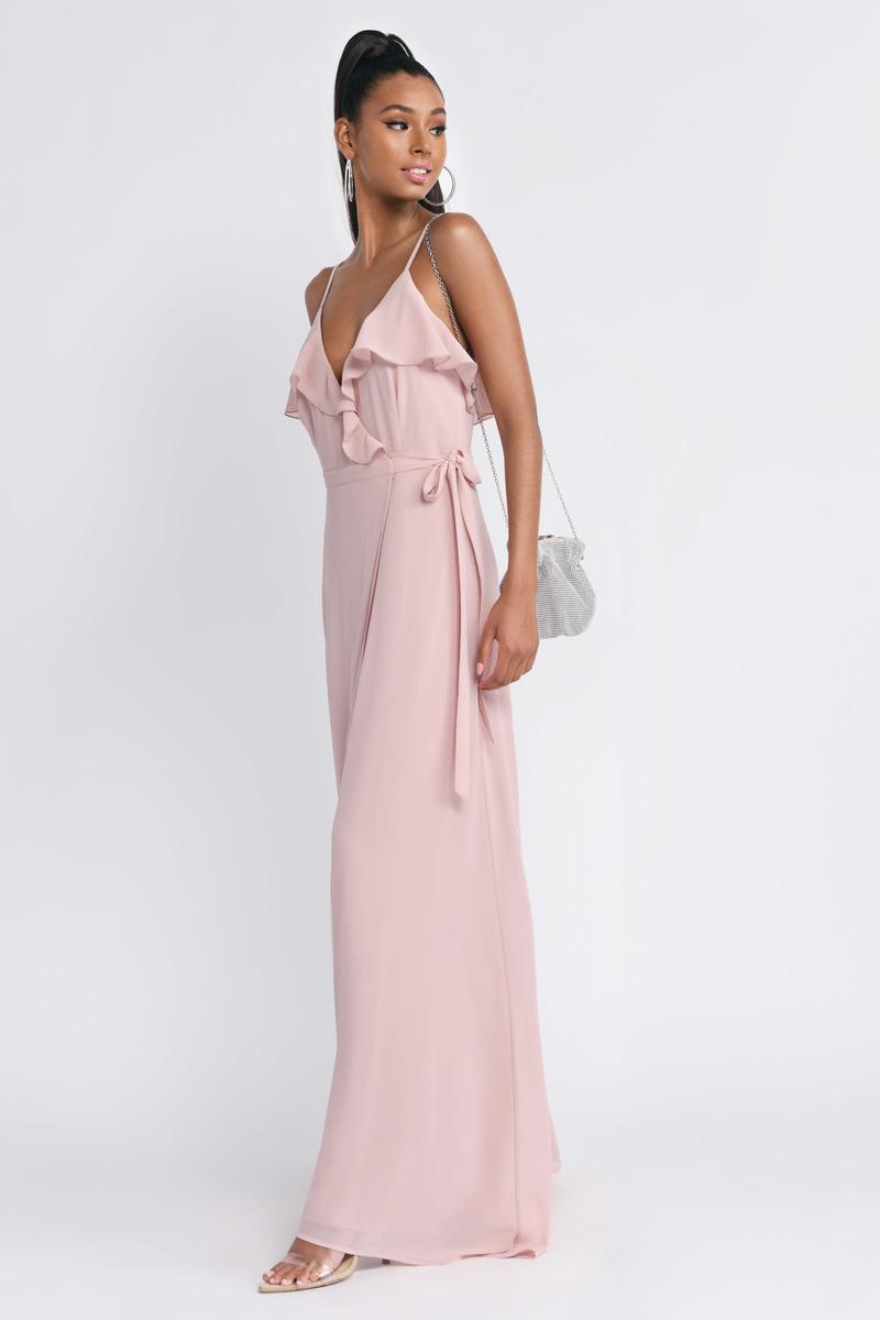Pretty Pink Wrap Dress - Formal Dress - Blush Cami Dress -  37  64198d6aa