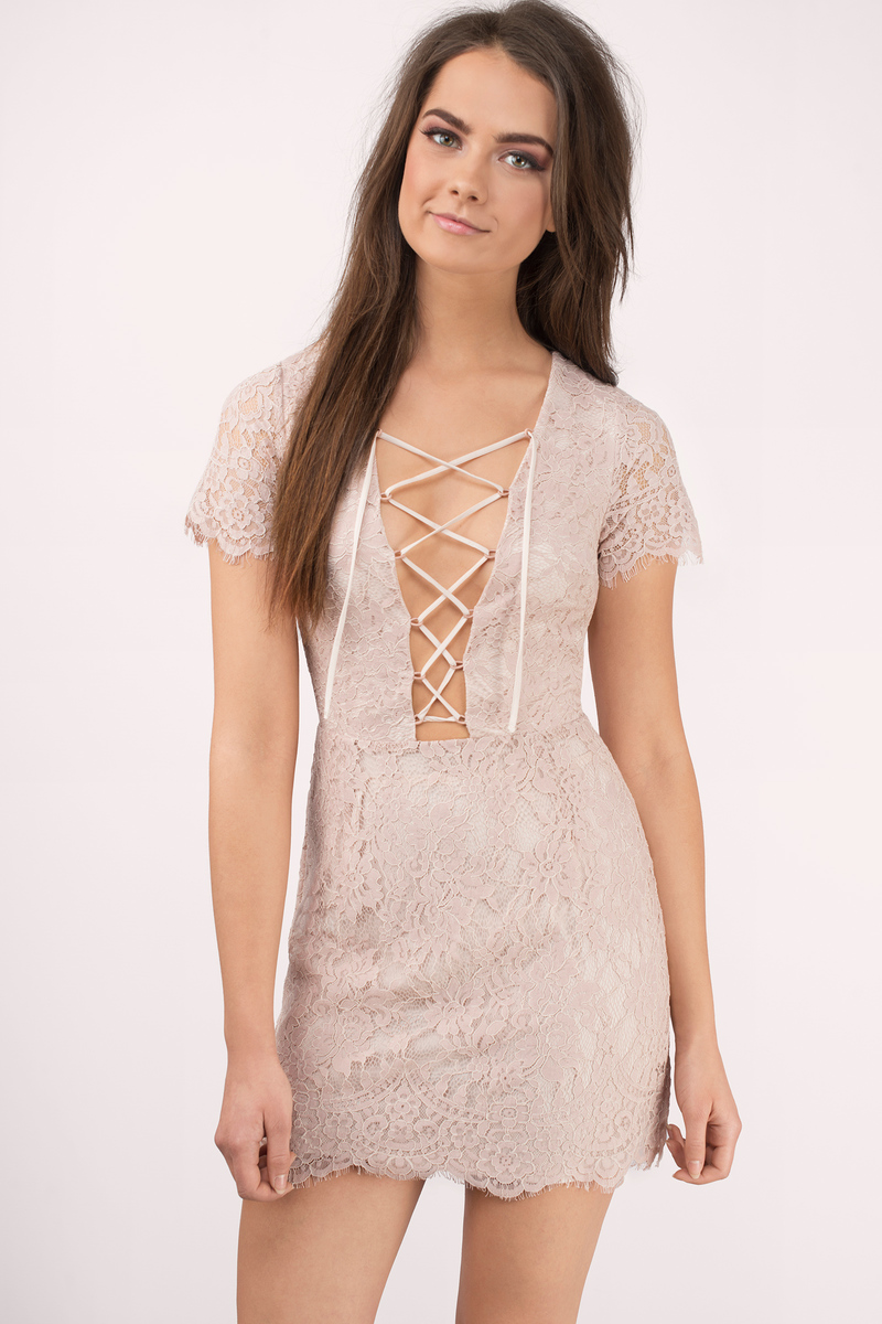 Liisa Blush Bodycon Dress