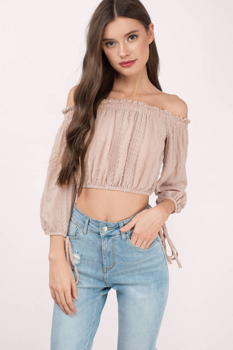 Lilian Blush Crop Top