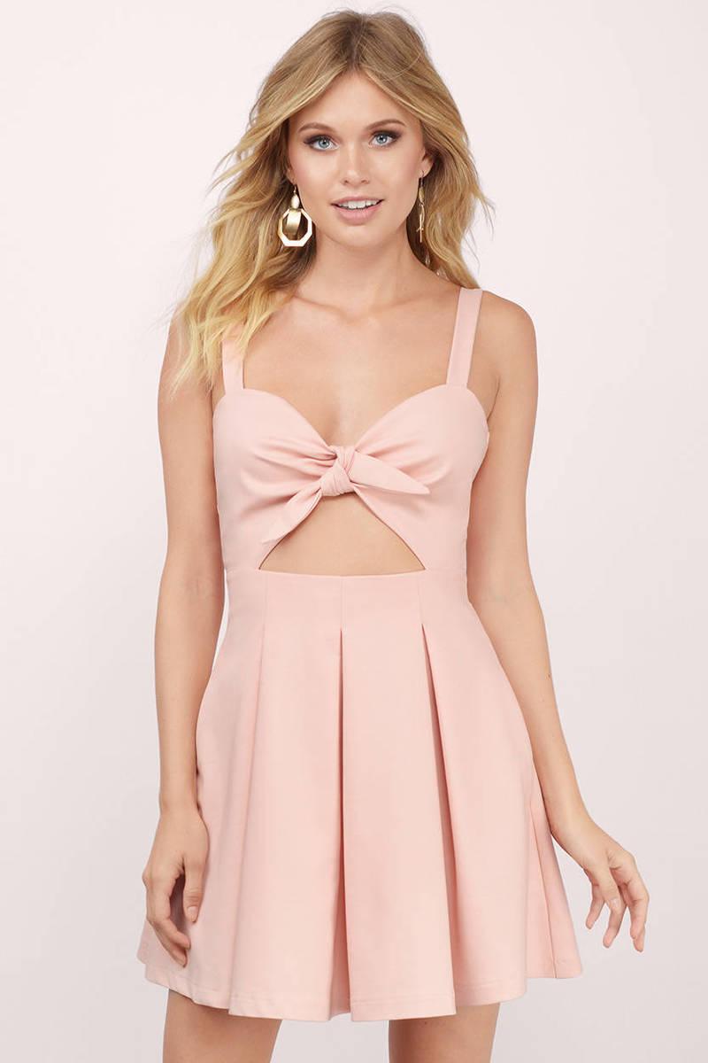 Trendy blush skater dress front tie dress skater dress tobi lola blush skater dress ombrellifo Gallery