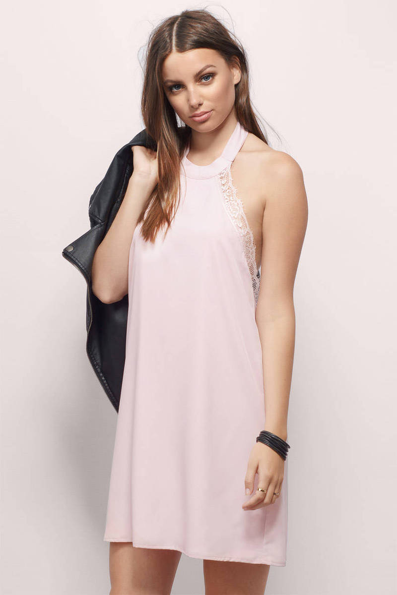 Look To The Side Neon Coral Shift Dress